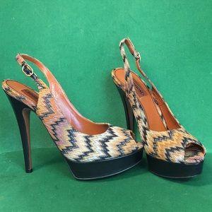 Missoni Peep Toe Sandals Size 7.5